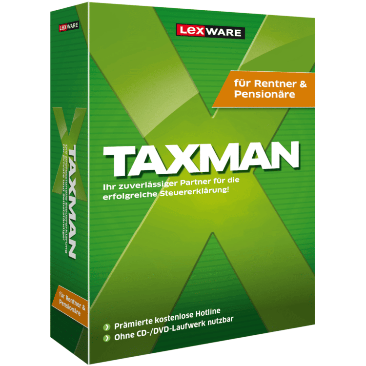 Lexware TAXMAN Rentner+Pensionäre